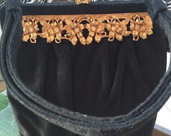 Vintage 1920s Ingber black evening purse