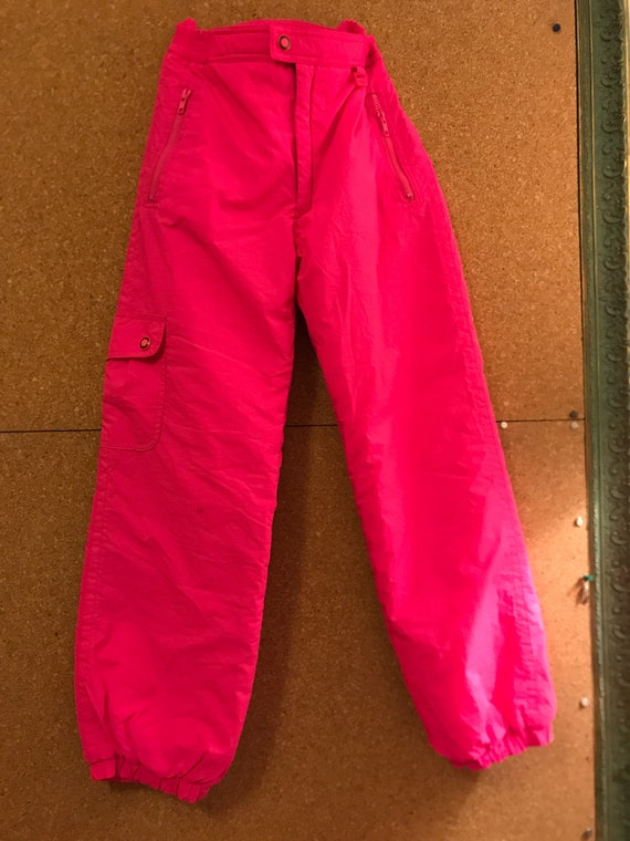 80s Red Ossi Skiwear Ski Overall Jumpsuit w Front Zipper SM