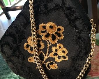 Vintage LL black evening purse