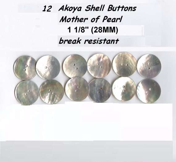 """20 Akoya Shell Mother of Pearl Doll Buttons 5//16/"""" 9mm first quality durable"""