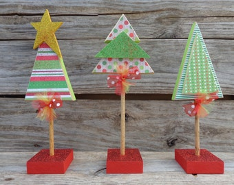 holiday decor christmas tree decor christmas decor christmas tree wood christmas trees set of 3