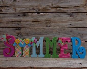 0ce4c6eda1b376 Summer Decor-Beach Decor- Flip-Flop Decor-Beach House-Summer Letter set