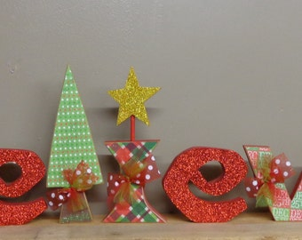 Christmas Decor, Winter Decor, Believe Letters