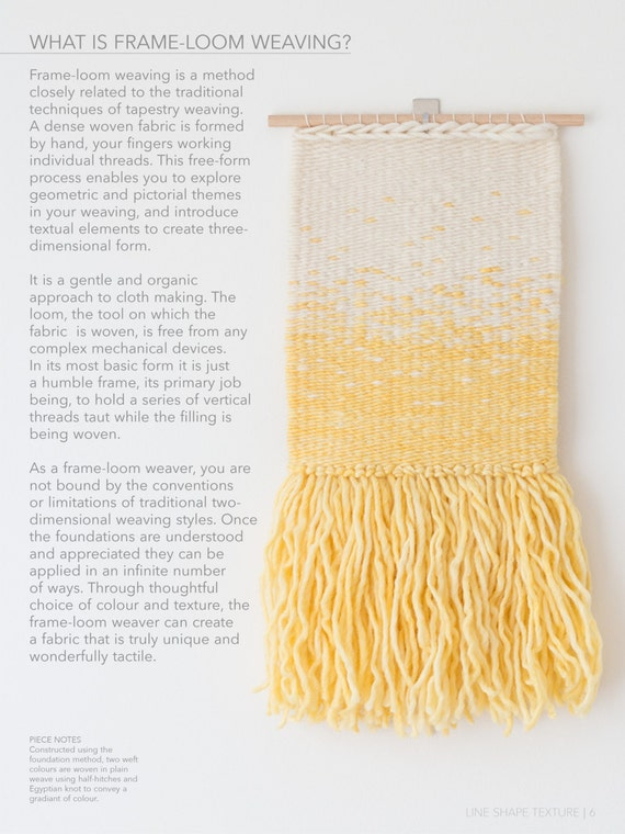 LINE SHAPE TEXTURE: A Creative\'s Guide to Frame-Loom   Etsy