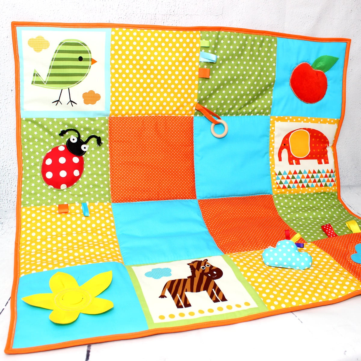 Baby Play Mat Activity Play Gym Tummy Time Mat Sensory