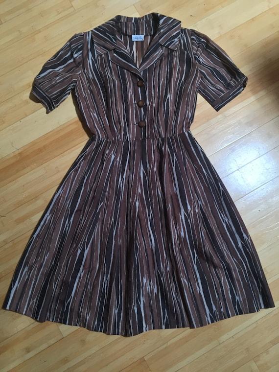 50's Nellie Don shirt dress