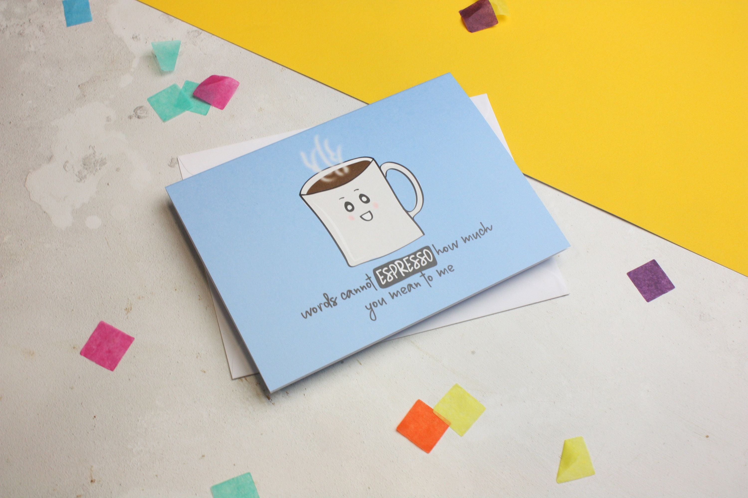 Coffee Card Lover Funny Valentine Food Pun