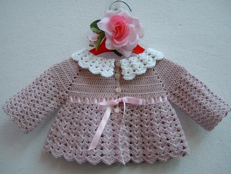 Witte Gehaakte Trui.Gehaakte Baby Trui Merino Wollen Vest Mini Roze En Witte Wol Etsy