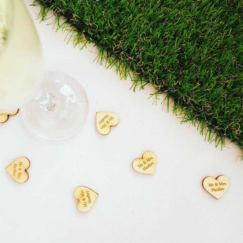 Personalised Wooden Table Confetti image 0