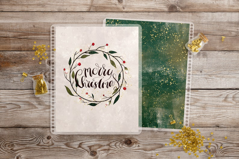 Christmas Planner Cover  Interchangeable Cover Erin Condren Life Planner Cover