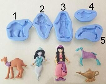 Silicone molds, Aladdin theme.