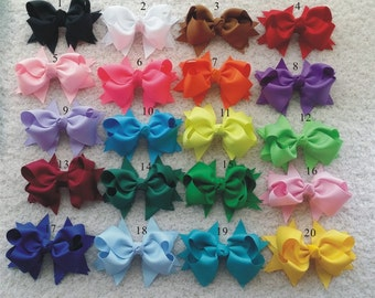 50 pcs 4 inch Baby Hair Bows  -girls hair bow - little girls hair bow - big girls hair bow - baby girls hair bow U choose color  H1