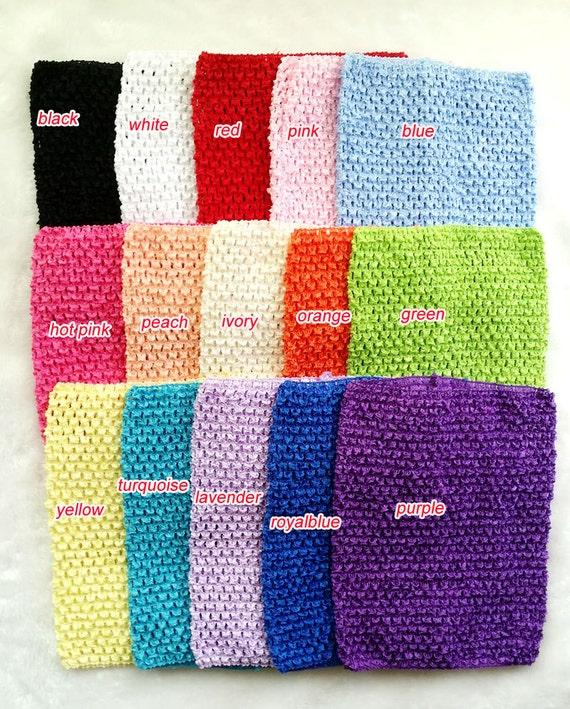 5 Pcs Baby Girls Crochet Tube Tops Assortment Gift Crochet Etsy