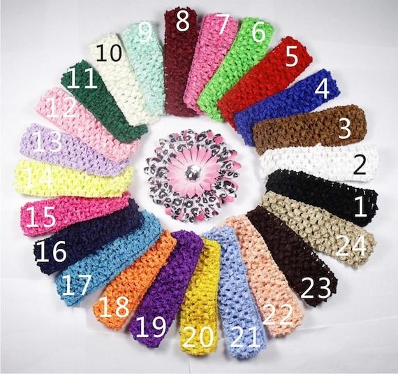 Wholesale 24 pcs Crochet Headband With 1.5 inch Acrylic