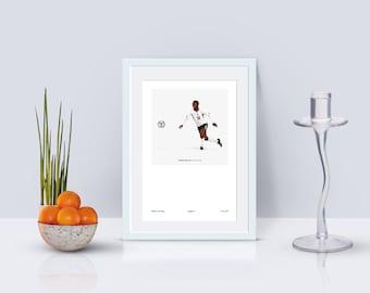 Raheem Sterling England 1998 A3 Poster: 297mmx420mm Manchester City, MCFC, United, De Bruyne, England, Beckham, Football, Retro, Umbro