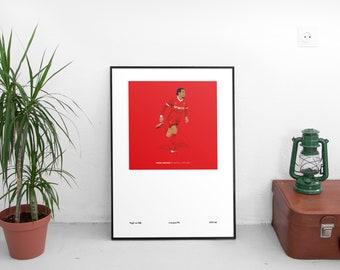 Virgil Van Dijk 1979-82 Kit A3 Poster: 297mmx420mm Liverpool, LFC, YNWA, Anfield, Klopp, Kop, Holland, Netherlands, VVD, Firmino, Salah
