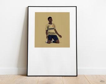 Bukayo Saka 2001-02 Away A3 Poster: 297mmx420mm Arsenal, AFC, London, Gunners, Henry, Classic, Football, Lacazette, Retro, Nike, Vieira