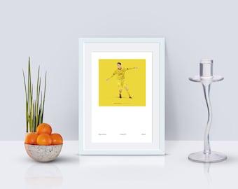 Roberto Firmino 1982-84 Kit A3 Poster: 297mmx420mm LFC, Liverpool, Brazil, Umbro, Classic, Retro, Coutinho, Klopp, Salah, Mane, Adidas