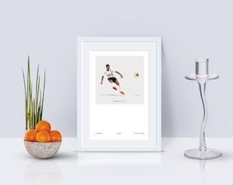 Jesse Lingard Korea/Japan 2002 A3 Poster: 297mmx420mm Manchester United, MUFC, United, Lukaku, England, Beckham, Football, Retro, Umbro