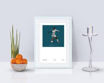 Gini Wijnaldum 2006-07 Third Kit A3 Poster: 297mmx420mm Liverpool, LFC, YNWA, Anfield, Klopp, Kop, Holland, Netherlands, VVD, Firmino, Salah