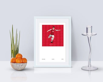 Hector Bellerin 1994-96 Home Kit A3 Poster: 297mmx420mm Arsenal, AFC, London, Gunners, Wenger, Classic, Football, Lacazette, Retro, Nike