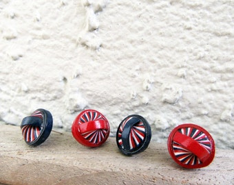Stud Earrings 4th of July Navy Blue Red White Posts Colorful Recycled  Paper Summer Jewelry Eco-Friendly FREE SHIPPING