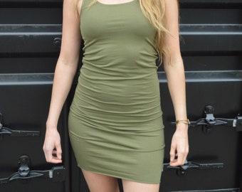 Tank top dress - organic cotton stretchy tank top dress