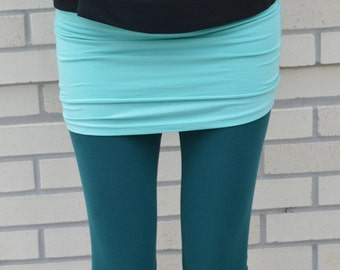 38abed6ba61 Organic cotton leggings - leggings with ruched ankle - full length leggings  - yoga pants