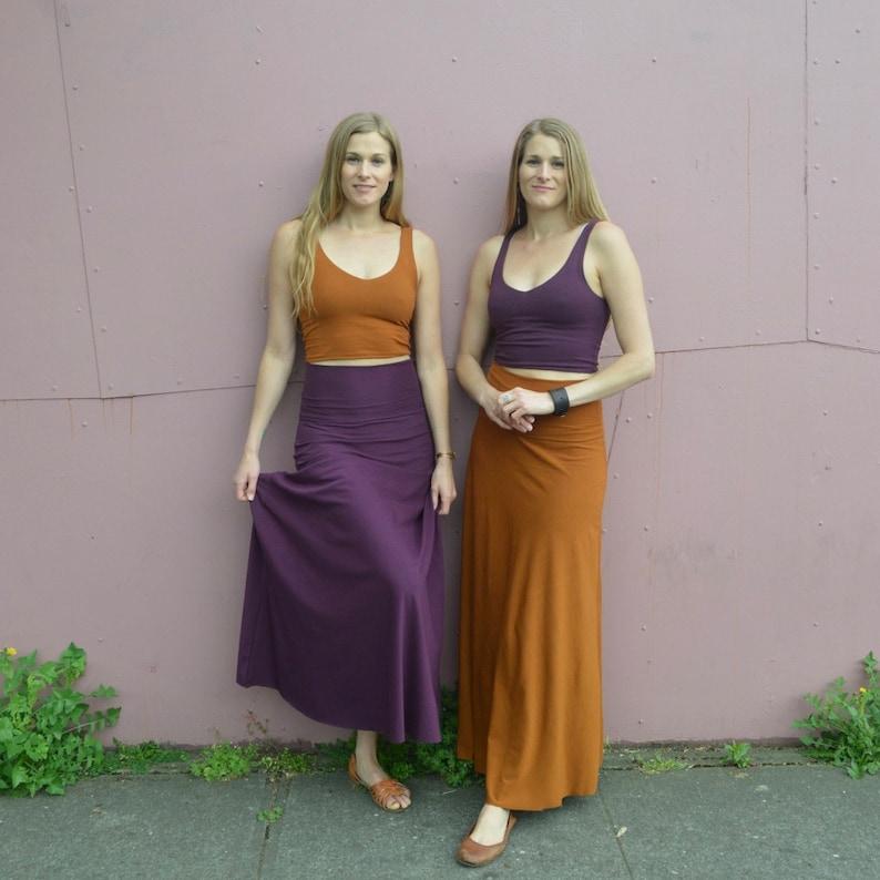 845f1e1776e4 Freedom skirt organic cotton maxi skirt convertible maxi