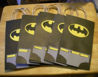 10 PC Batman Goody Gift Bags Favors Candy Treat Birthday Party Bag