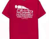 Griswold Family Christmas Vacation funny gift present movie T Shirt RED