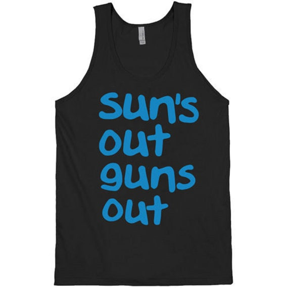 553ab80c0721eb Suns out guns out Tank top Black summer fashion funny crossfit