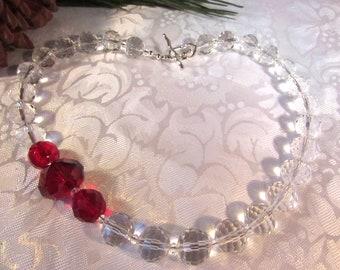 Rose Quartz Pewter Elegant Statement Choker Necklace Big Bead Rose Quartz Choker Rose Quartz Classic Necklace Pelosi style Czech Glass