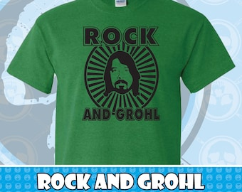 ef9f9feda39 Rock And Grohl Dave Grohl Foo Fighters Graphic T-shirt Several Colors