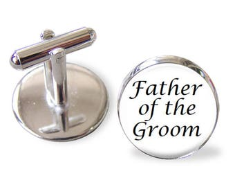 Father of the Groom Cufflinks / Wedding Tieclip Wedding Lapel pin Wedding Keyring / Bridal for Him / gift for Grooms Dad / Wedding cufflinks