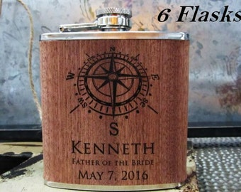 Laser Engraved Square /& Compass Masonic 6 Ounce Flask