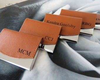 Business card holder etsy business card holder personalized business card case custom engraved leather business card holder corporate gifts boss gift man gift colourmoves
