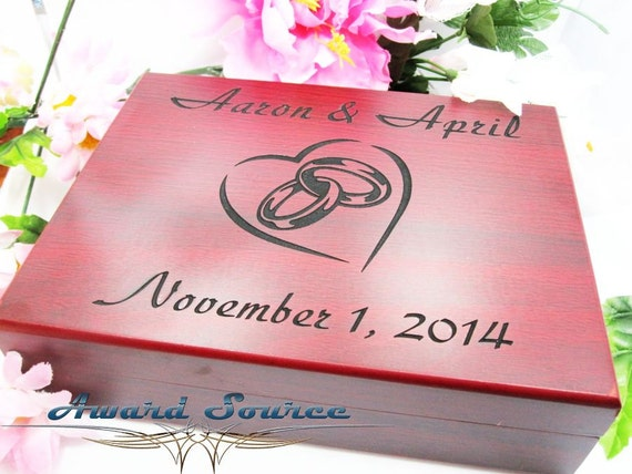 Forty Fifth Wedding Anniversary Gifts: 5th Anniversary Gift Wedding Ring Box Personalized