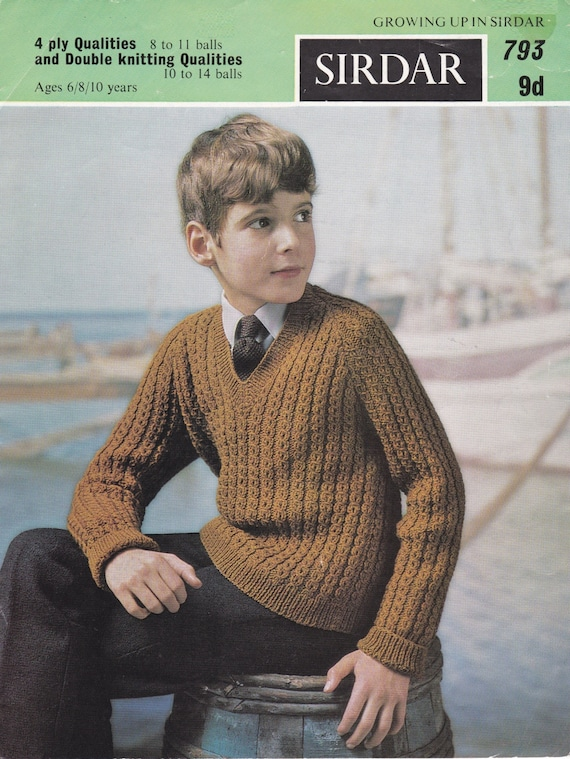 Vintage 1960s Sirdar 791 Knitting Pattern For Childrens Raglan Etsy