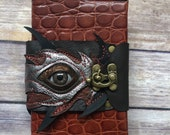 Leather bound, refillable blank journal / sketchbook