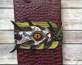 Leather bound, refillable blank journal / sketchbook medium size