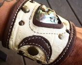 leather cuff, cuff bracel...
