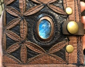 Handmade leather wallet, ...