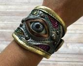 leather cuff, cuff bracelet, leather bracelet, leather bracer