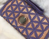 Leather Wallet, flower of...