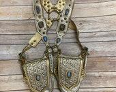 Leather pocket holster, festival bag, festival holster, burningman