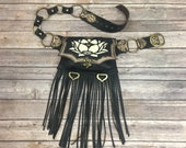 Leather lotus hip belt...