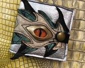 Handmade leather wallet, ...