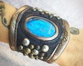 leather cuff, cuff bracel...
