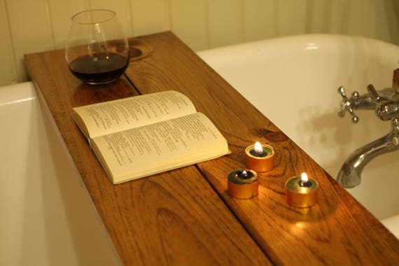 Custom-made barnboard wood bathtub caddy tray tub table | Etsy